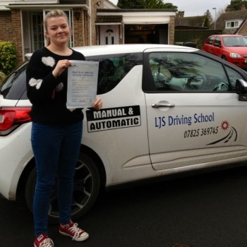 Well Done Chloe Standley for Passing your Practical Driving Test today 4th January A great drive thanks again for choosing LJS Driving School for your training Safe driving from your instructor Jason Smith