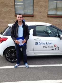 Well done Danny for Passing your Driving Test 1st time today 26th September A great drive :-