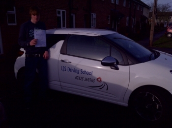 Well done for passing 1st time James a great drive