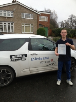 Well Done Jason Suckling for Passing your Practical Driving Test 1st time today 29th November A superb drive :- Enjoy driving your car to college and work Thank-you for choosing LJS Driving School for your training safe driving from your Instructor Jason Smith