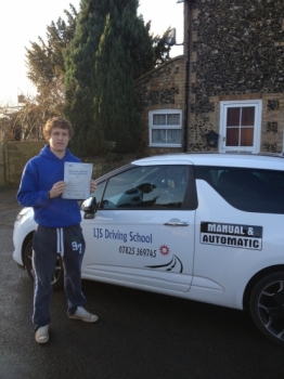 Well done to Thomas Bailey for Passing your Practical Driving Test today 4th December A First Time Pass A Great Drive Thomas have fun driving your Mini :- <br />